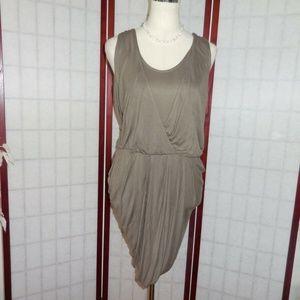 Banana Republic taupe Grecian style gathered dress
